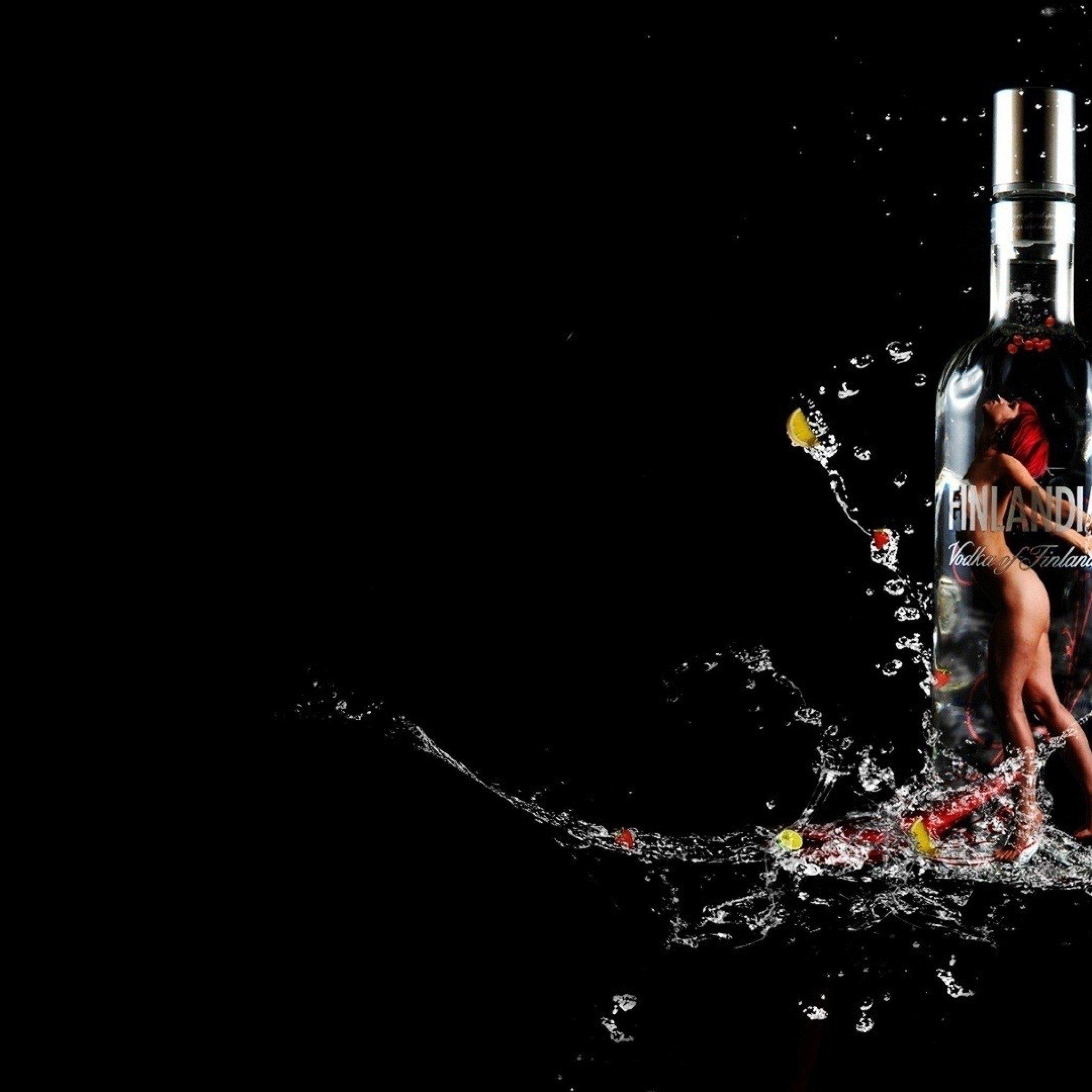 vodkadrinkblackbackground2048x2048 wallpaper