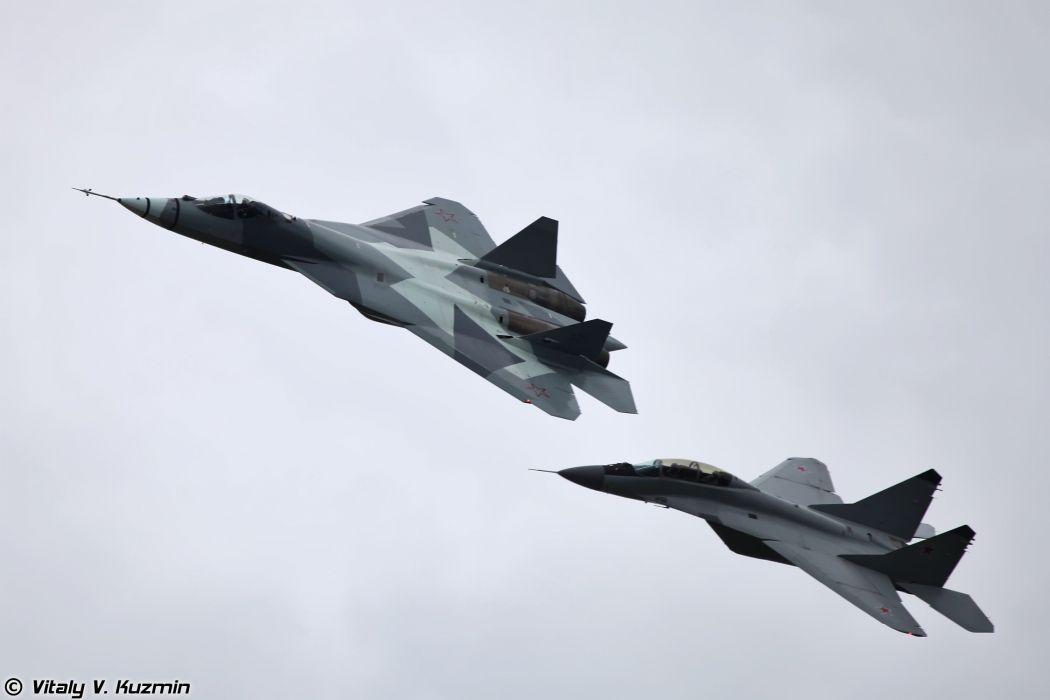 russian air sukhoi t50 mig 29 war wallpaper