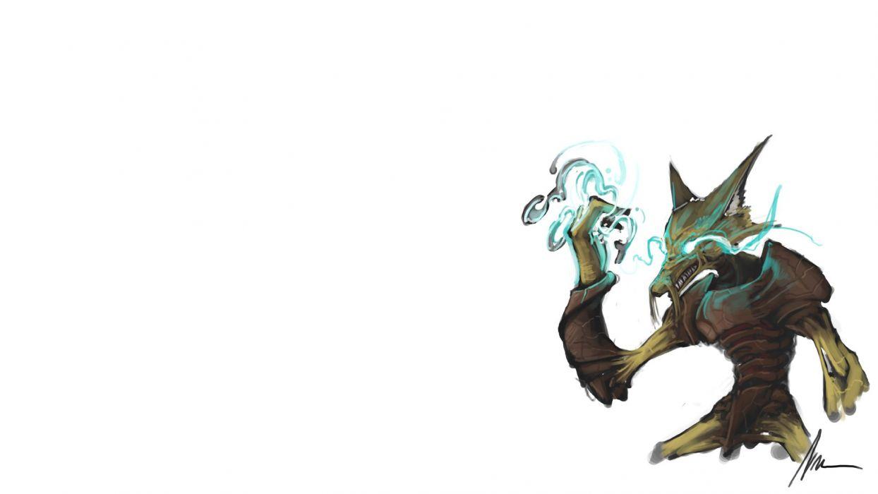 Pokemon Alakazam white background wallpaper