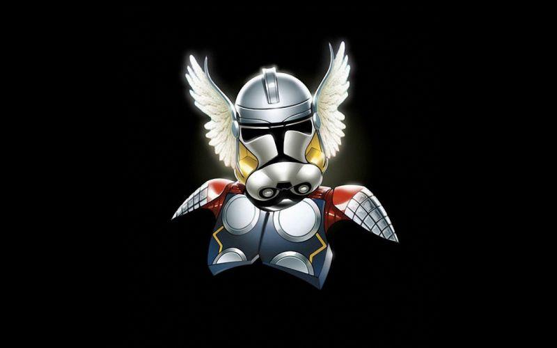Star Wars minimalistic stormtroopers Thor Marvel Comics Storm Trooper wallpaper
