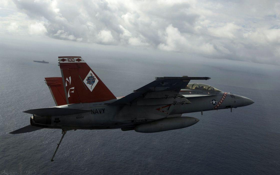 aircraft war FA-18 Hornet wallpaper