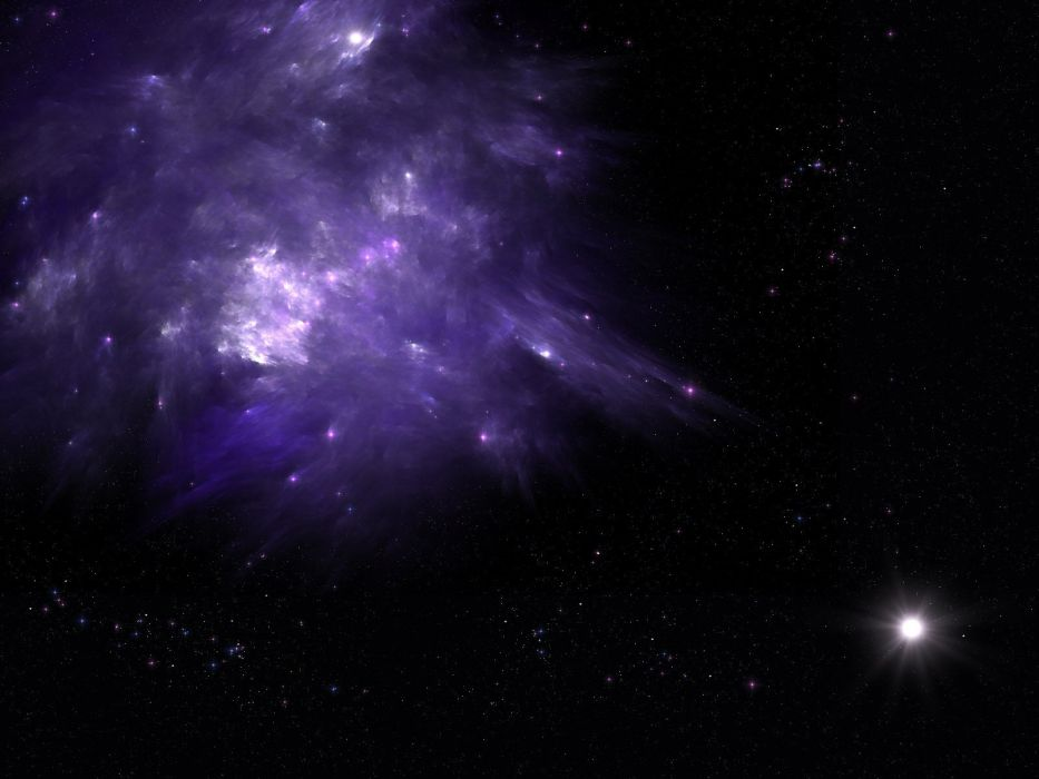 outer space lights stars galaxies purple nebulae Planet Earth bright wallpaper