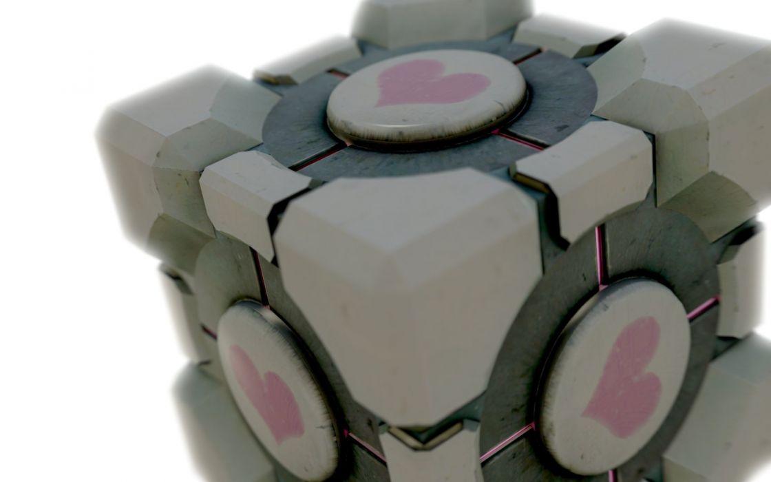 Valve Corporation Portal Companion Cube wallpaper