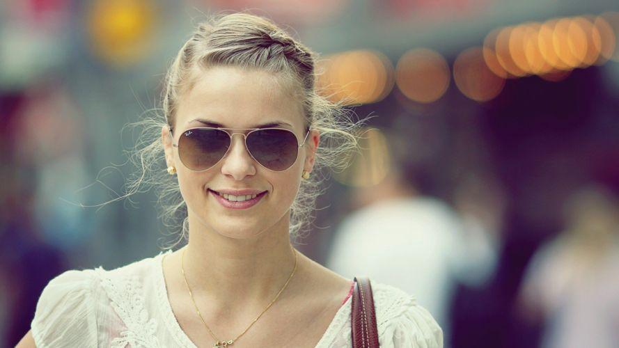 blondes women streets smiling wallpaper