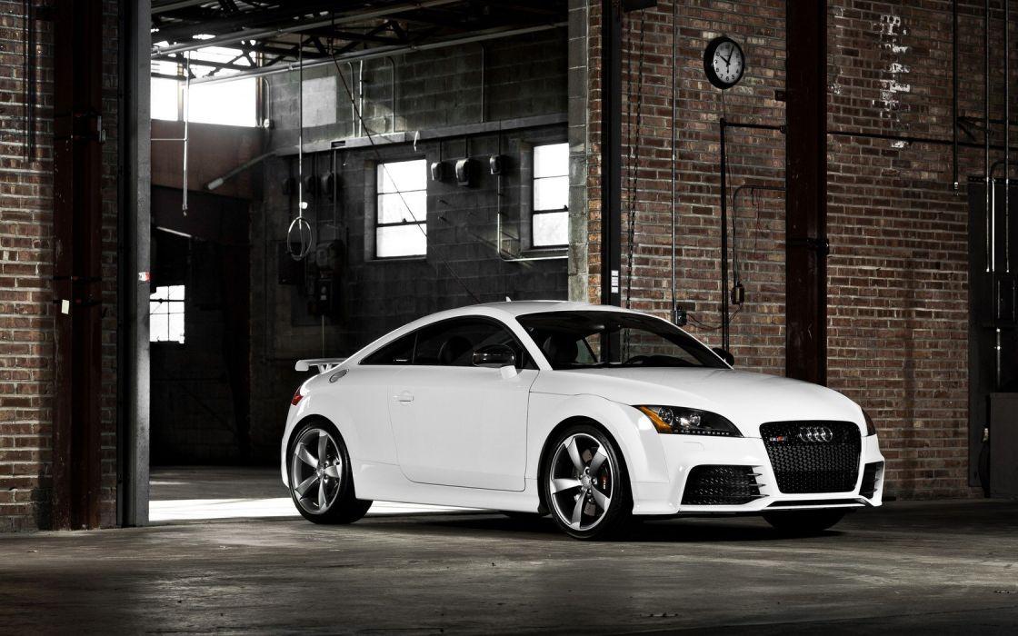 cars Audi tuning garages Audi TT rims white cars wallpaper