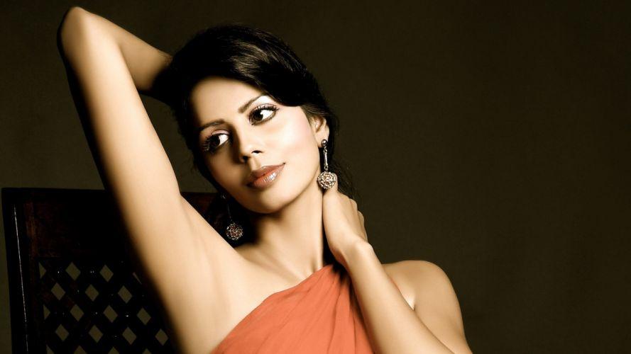 brunettes women dress models celebrity faces black hair Bhairavi Goswami wallpaper