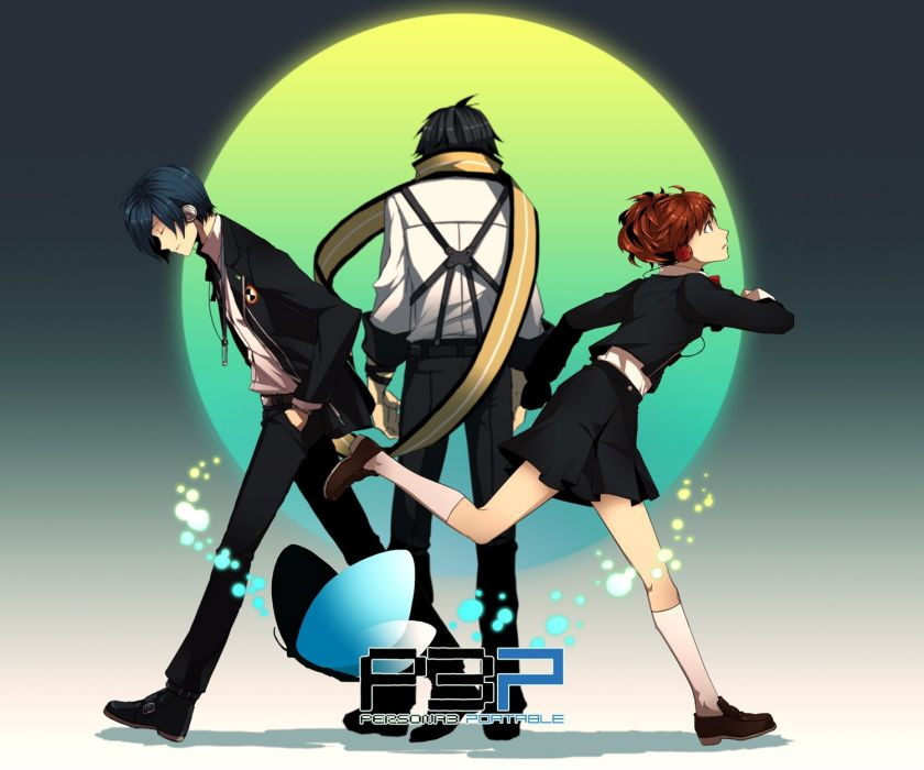 Persona series Persona 3 Arisato Minato Female Protagonist (Persona 3) Mochizuki Ryouji wallpaper