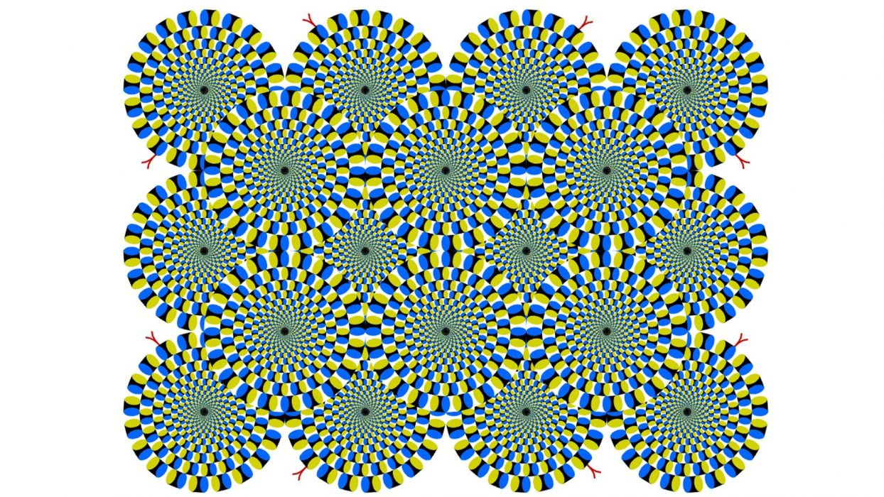 textures optical illusions Moving Pictures wallpaper