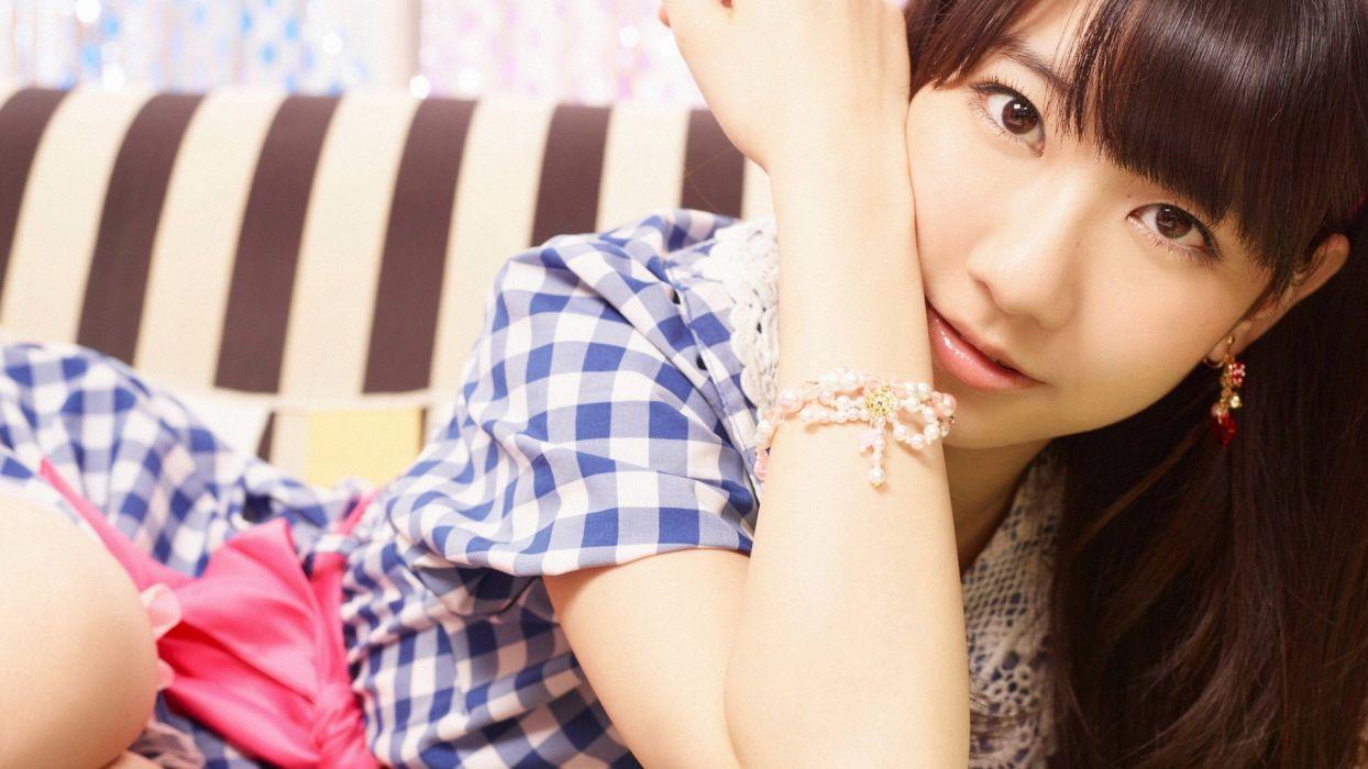 women Japan music models pop Japanese Asians band AKB48 bangs jpop Yuki Kashiwagi wallpaper