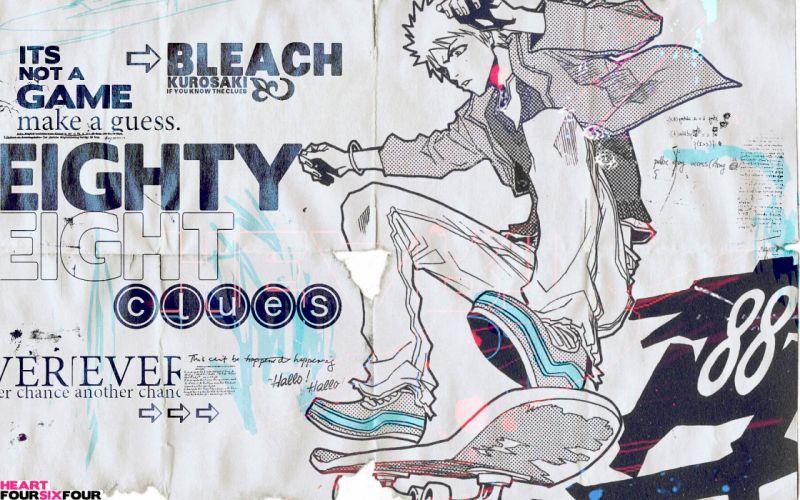 Bleach Kurosaki Ichigo typography wallpaper