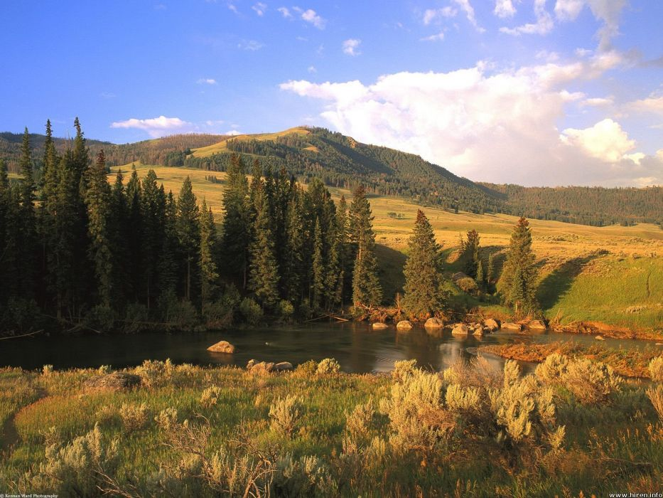 mountains landscapes forests wallpaper