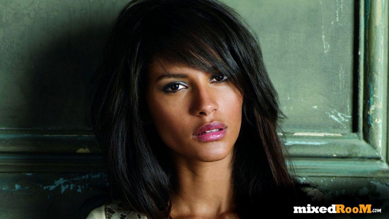 brunettes women Emanuela de Paula mixedroom_com wallpaper