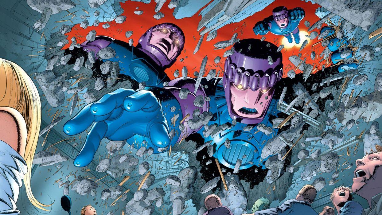 comics X-Men sentinels wallpaper