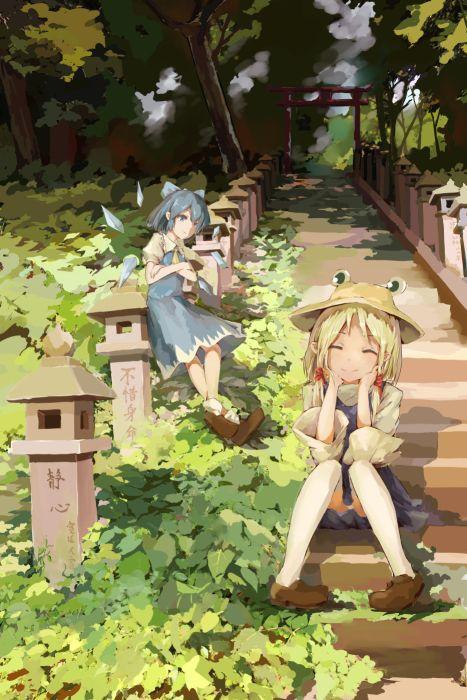 video games Touhou wallpaper