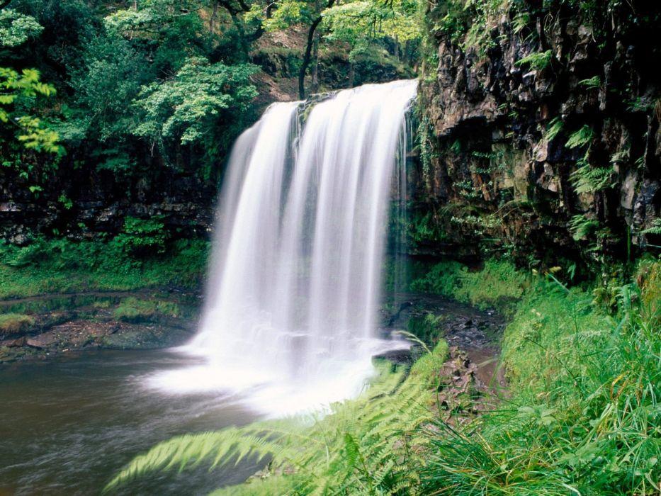 landscapes nature waterfalls wallpaper