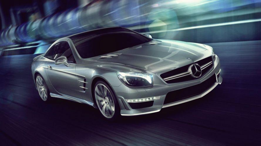 cars roads vehicles Mercedes-Benz Mercedes Benz SL 65 AMG wallpaper