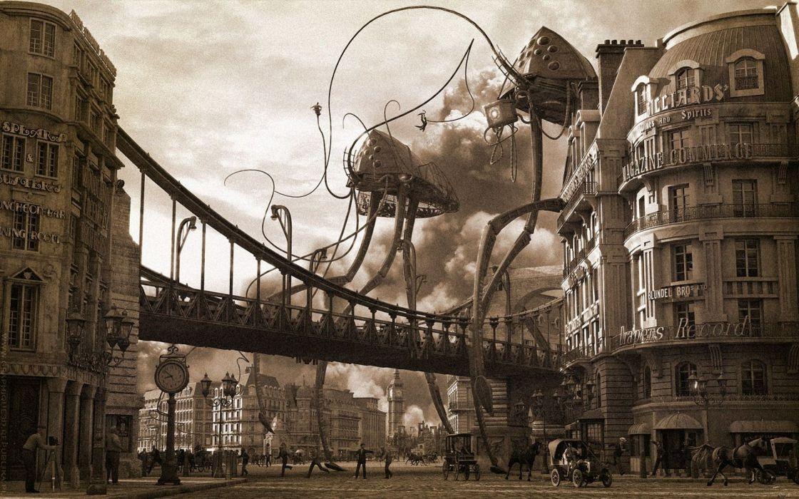 War of the Worlds Orson Welles wallpaper