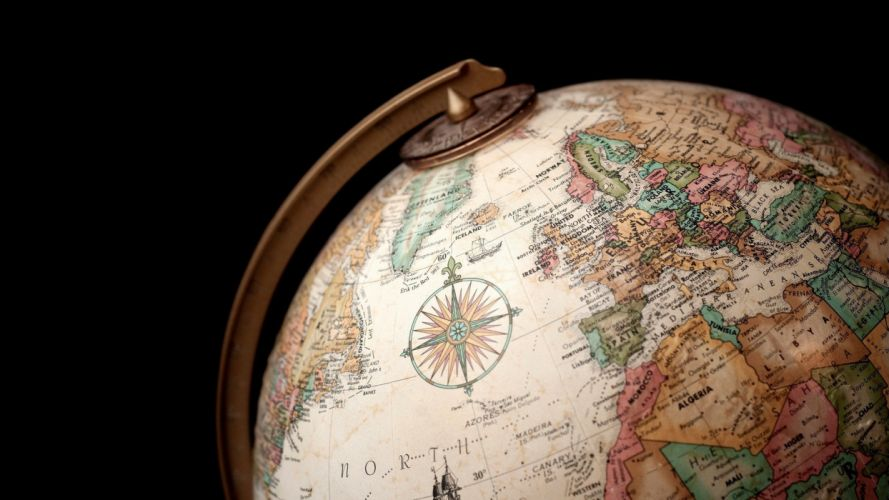 globes maps world map old map globe wallpaper
