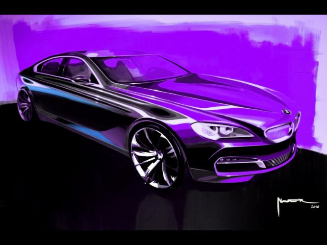 cars design sketches coupe BMW 6 Series wallpaper