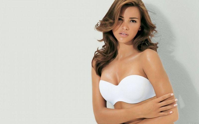 lingerie brunettes women Alina Vacariu wallpaper