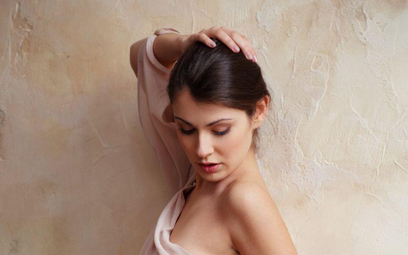 brunettes women models Met-Art magazine Marga A wallpaper