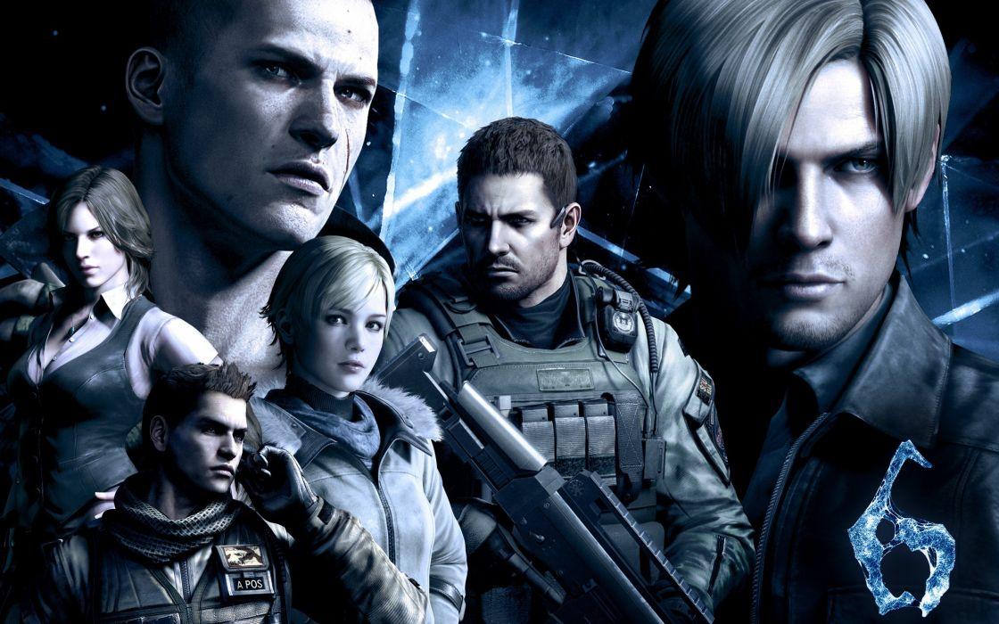 video games Resident Evil police Leon weapons Chris Redfield Sherry Birkin Helena Resident Evil 6 jake wallpaper