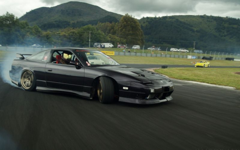 drifting cars Nissan Nissan 180SX wallpaper