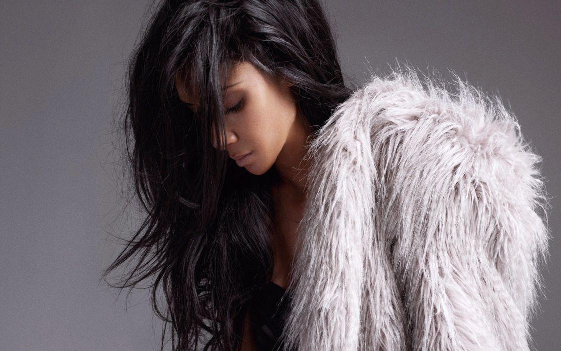 brunettes women long hair black hair wallpaper