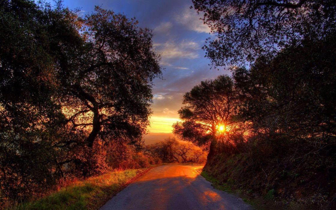 sunset Earth wallpaper