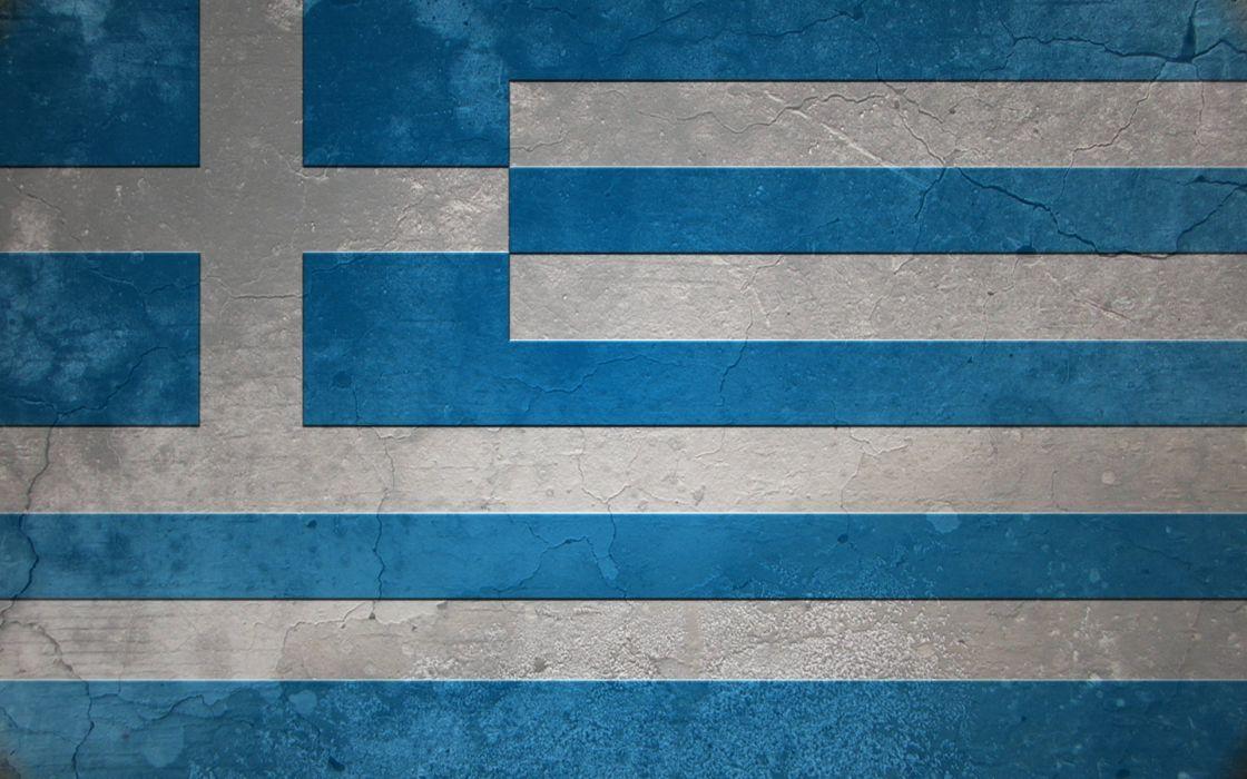 grunge flags Greece wallpaper