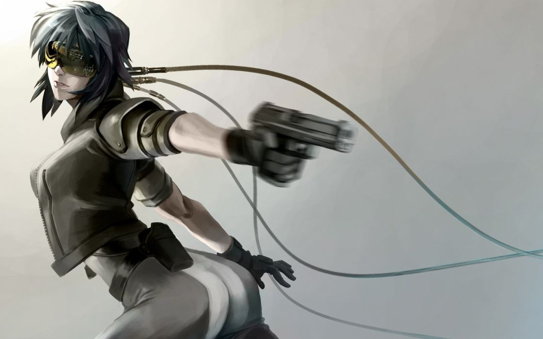 Kusanagi Motoko artwork anime Ghost in the Shell wallpaper