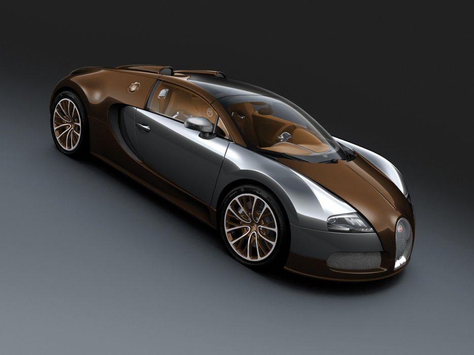 cars brown Bugatti Veyron front grand supercars carbon fiber Bugatti Veyron Grand Sport wallpaper