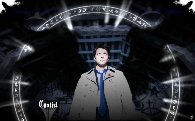 Supernatural Castiel TV series Misha Collins wallpaper