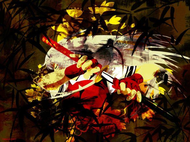 abstract gloves katana long hair weapons Ikki Tousen white hair Chouun Shiryuu wallpaper