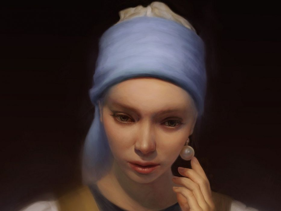 artwork The Girl with a Pearl Earring wallpaper