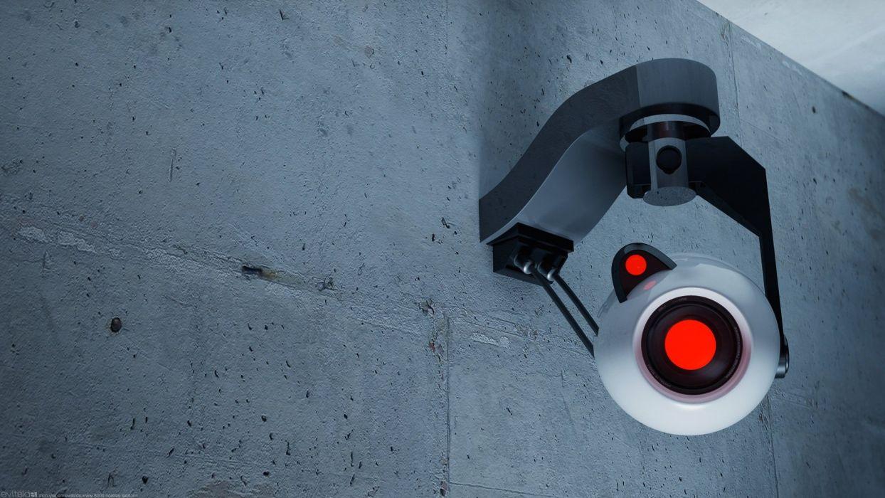 Valve Corporation Portal GLaDOS cameras Aperture Laboratories wallpaper