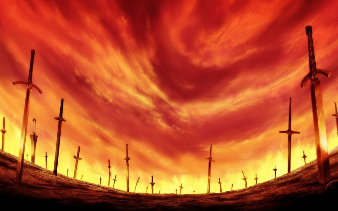 Fate/Stay Night Unlimited Blade Works skyscapes Fate series wallpaper