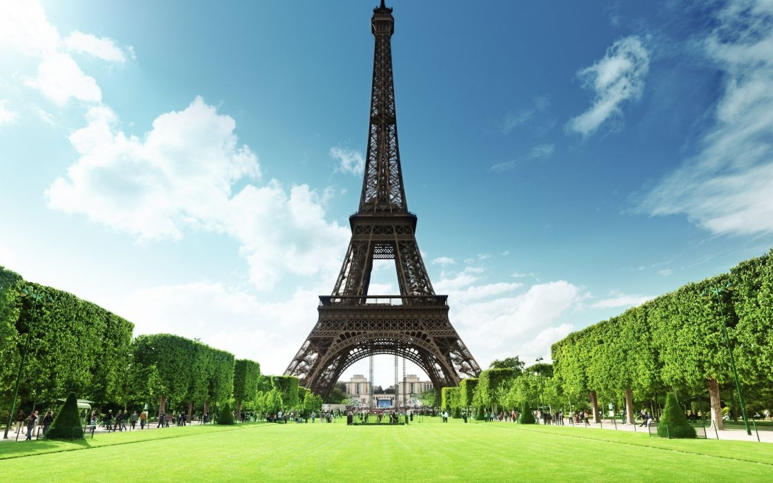 Eiffel Tower parks wallpaper