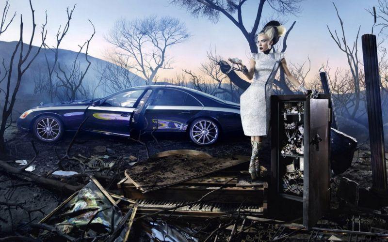 women fantasy art artwork Maybach digtal art auto wallpaper