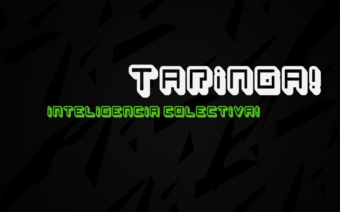 typography website black background Taringa wallpaper