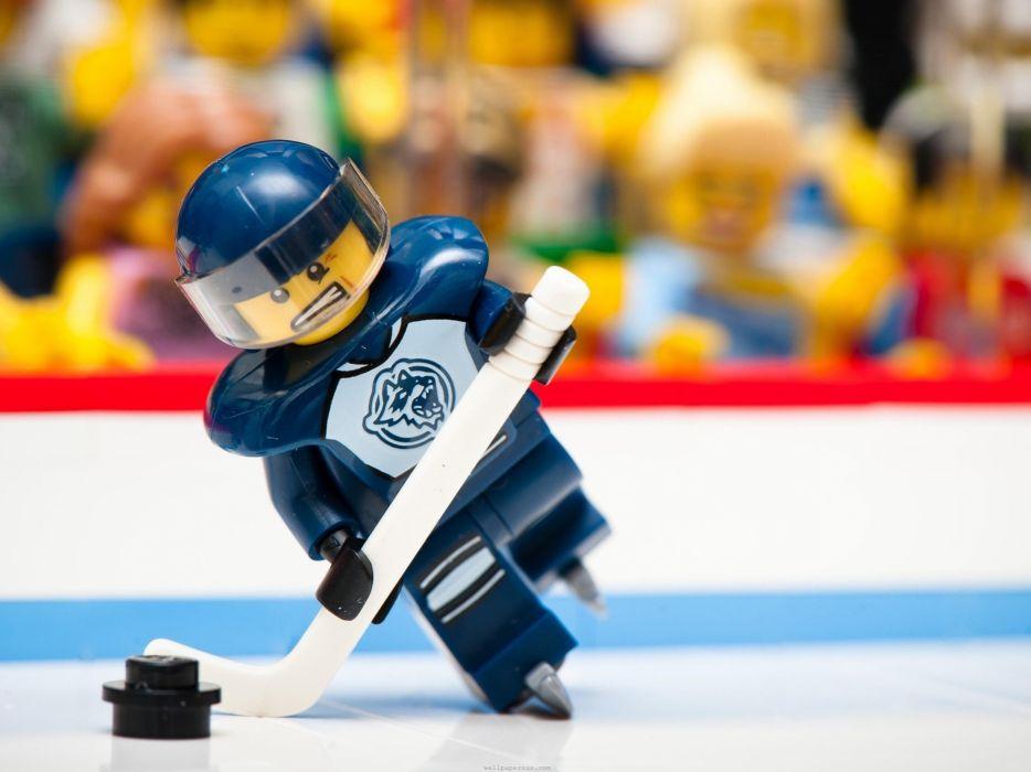 ice sports funny NHL macro ice hockey Legos wallpaper