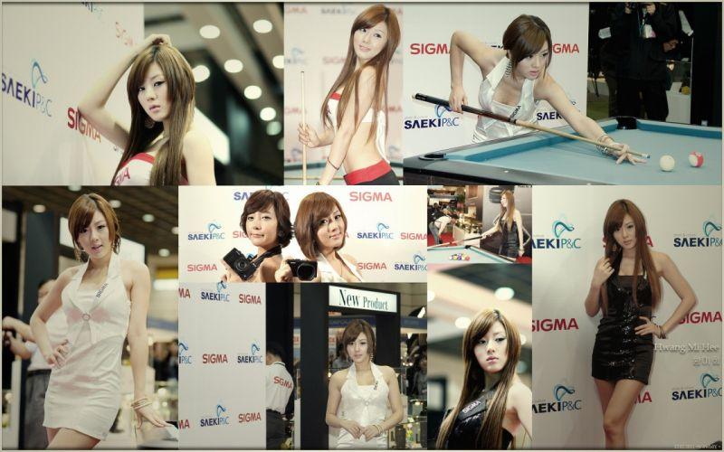women actress models fashion Hwang Mi Hee Asians navel wallpaper