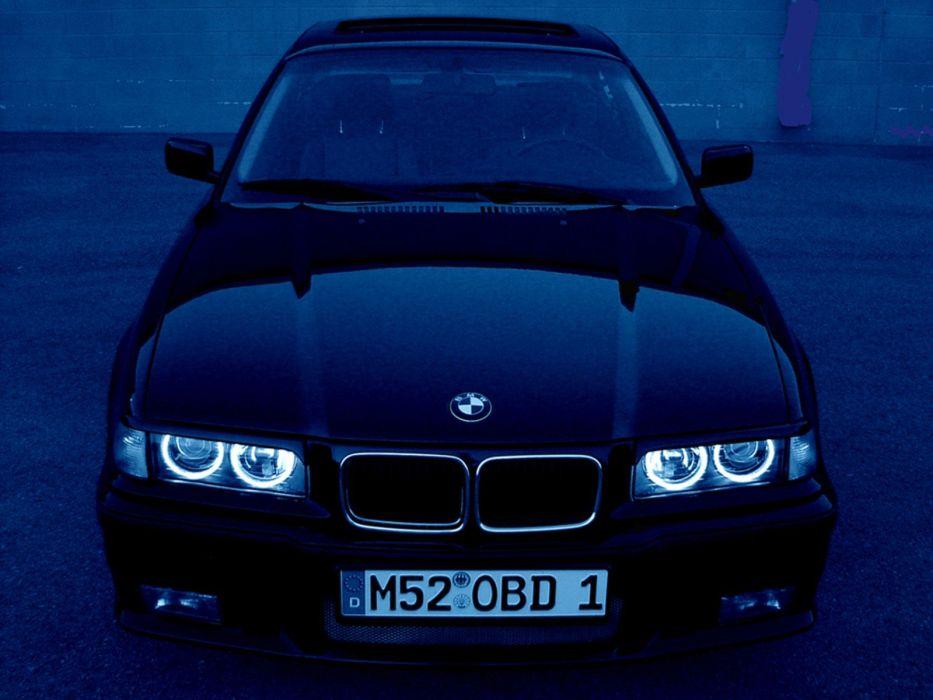 BMW black cars front e36 wallpaper