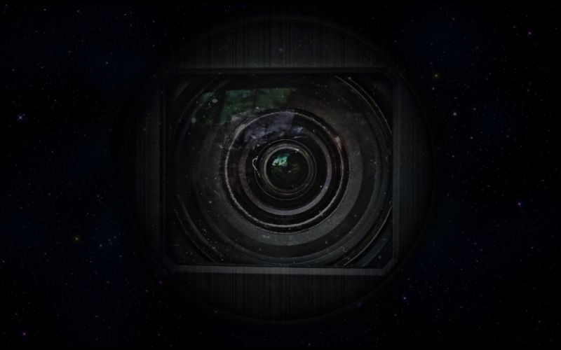 outer space stars lens cam wallpaper