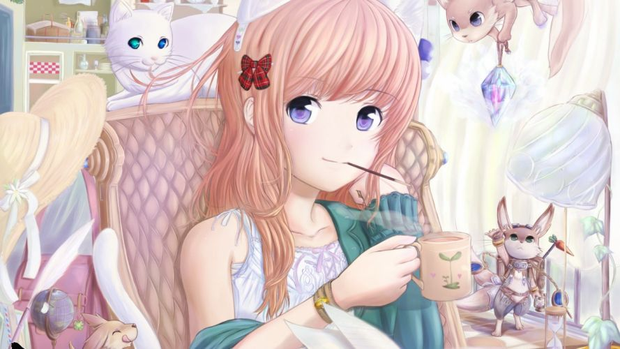 Asians Asia anime manga anime girls wallpaper