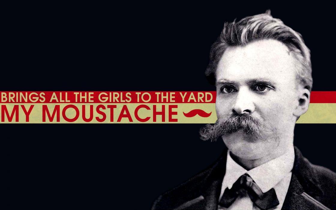 lyrics philosophy Friedrich Nietzsche mustache wallpaper