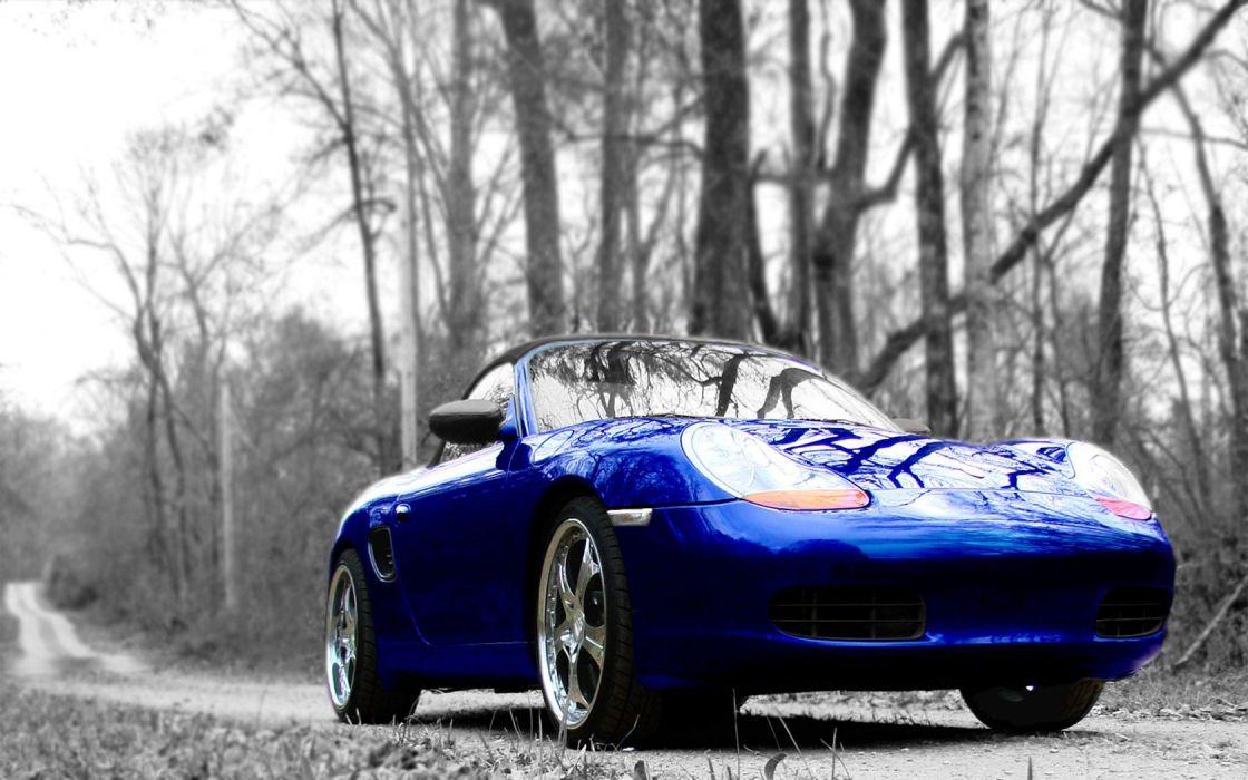 trees Porsche cars vehicles wallpaper
