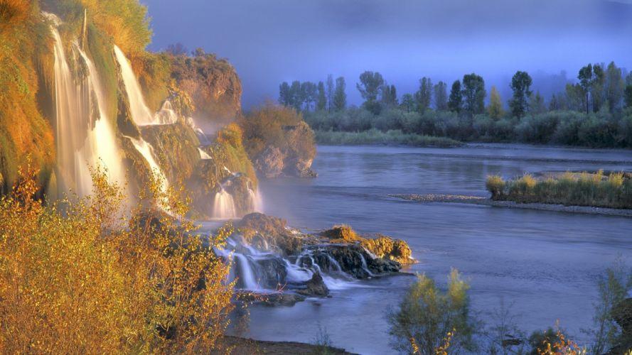 Idaho waterfalls rivers wallpaper