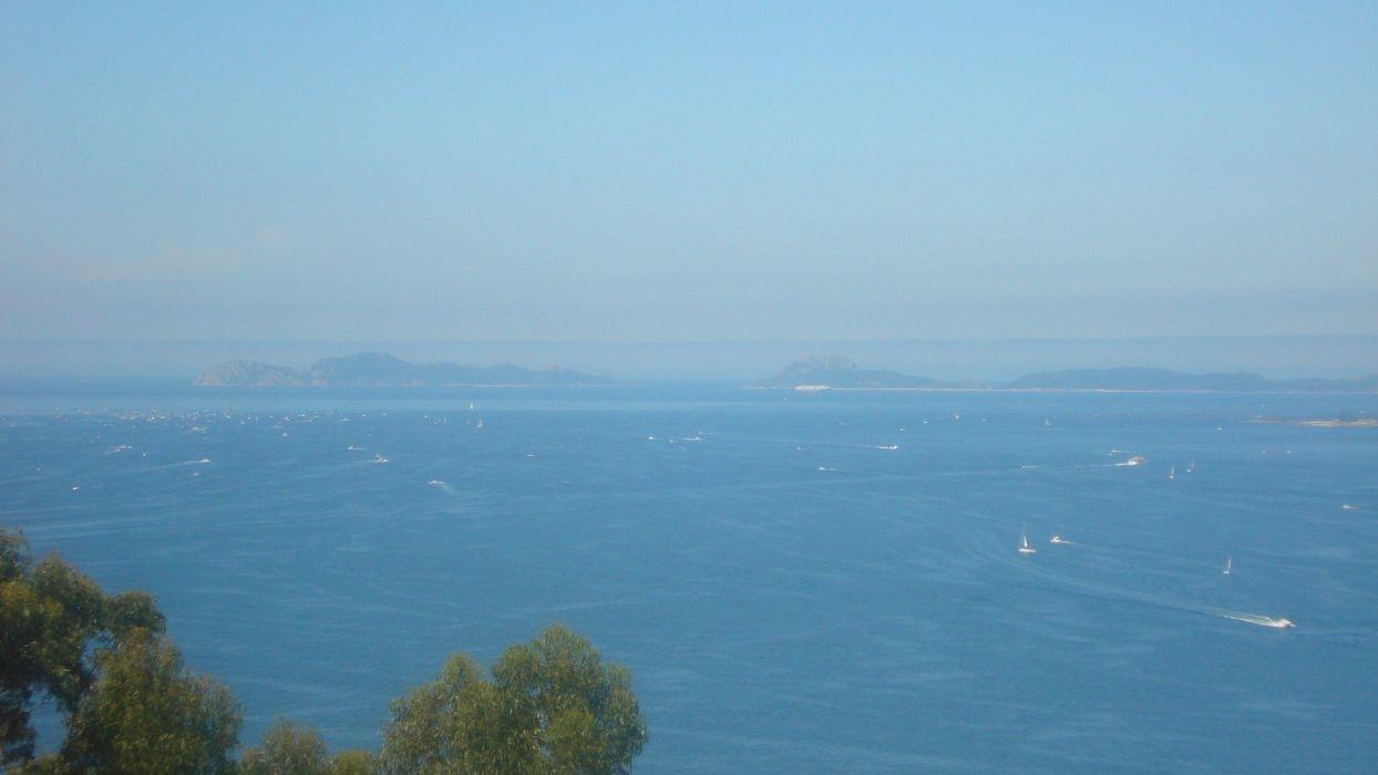 landscapes blue skies sea wallpaper