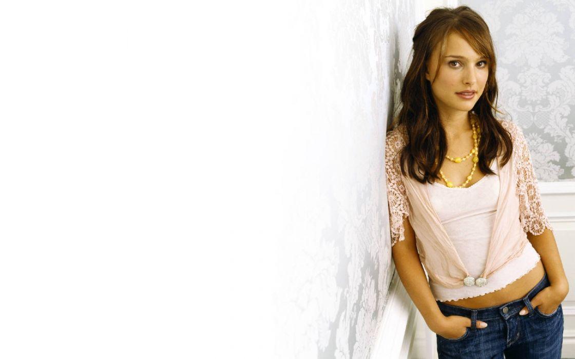 brunettes women actress Natalie Portman wallpaper